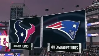 NFL Playoffs - Divisional - Houston Texans vs New England Patriots - Full Game - Simulation Nation