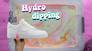 HYDRO Dipping Air force 1's and Hydro flask!! *SATISFYING*