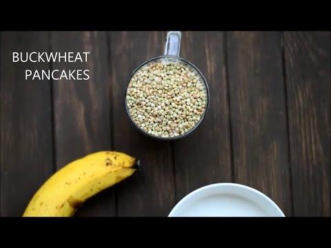 Buckwheat pancakes (gluten-free, low-fat, vegan)