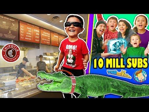 KID LOSES PET ALLIGATOR + CHIPOTLE STRANGERS & More! FUNnel Vision 10 MILLION SUBS Celebratin