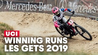 DH Winning Runs in Les Gets, France | UCI MTB World Cup 2019