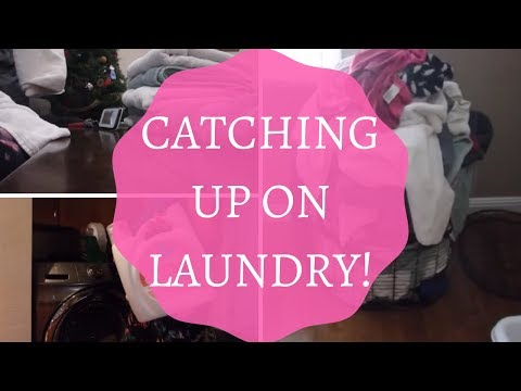 DO LAUNDRY WITH ME | CATCHING UP ON LAUNDRY