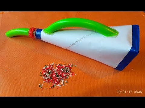 How to make a  Vacuum Cleaner with Paper II Very easy II
