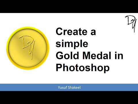 Photoshop | How to create a simple Gold Medal in Photoshop