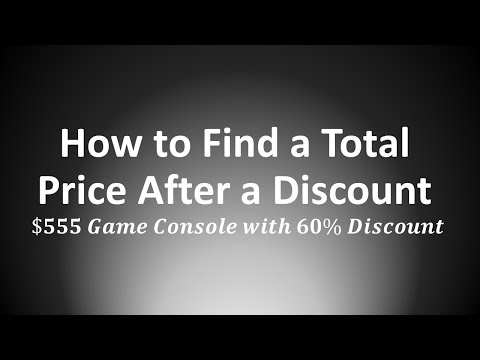 How to Find a Total Price after a Discount: Game Console