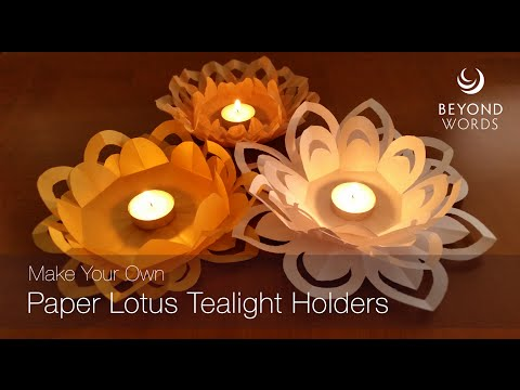 How to make a paper lotus tealight holder