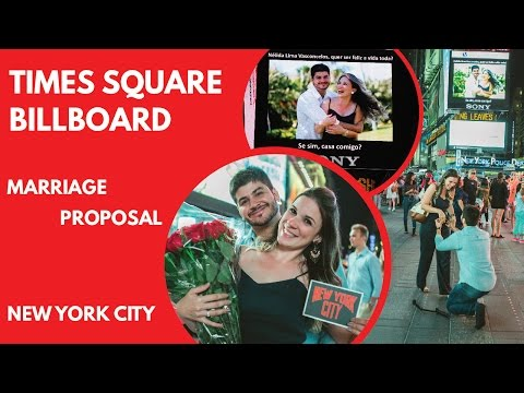 This is THE BEST Marriage Proposal on Times Square Billboards.