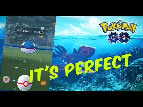 Pokemon GO | PERFECT IV Weather Boosted Kyogre | Did I Catch Him?