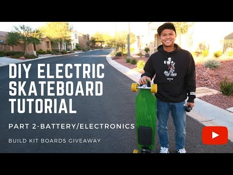 HOW TO BUILD A DIY ELECTRIC ⚡ SKATEBOARD TUTORIAL - BATTERIES & ELECTRONICS - PART 2