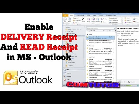 How to Enable DELIVERY And READ Receipt Option in Microsoft Outlook