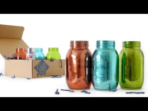 Easy DIY Kit How to: Mirrored Mason Jars - Crafty Crate