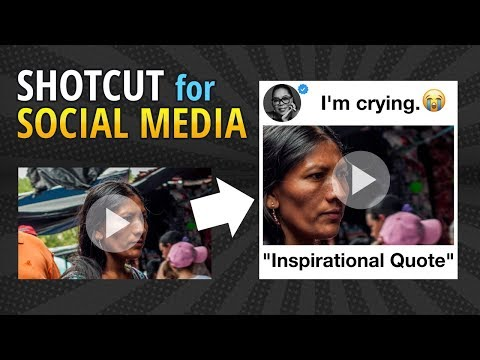 Shotcut Instagram + Social Media Inspirational Square Video Tutorial (Requested)