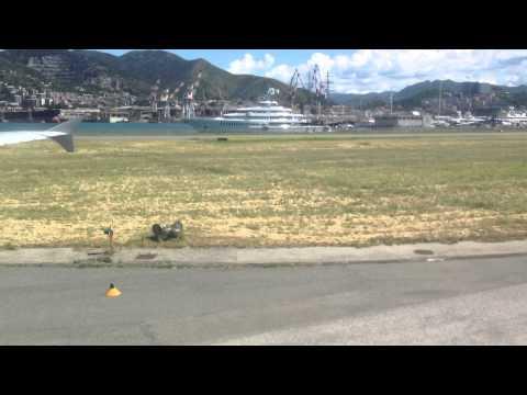 ATTERRAGGIO PRESSO AEROPORTO DI GENOVA 23 05 2013