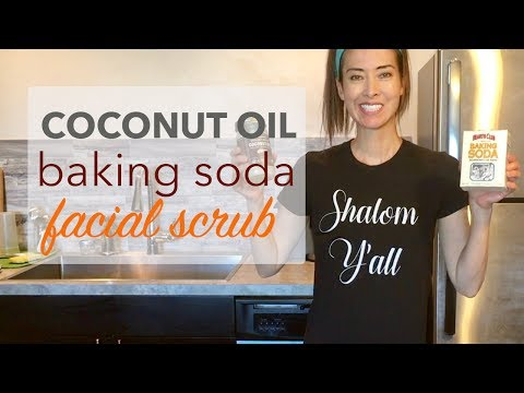 Coconut Oil and Baking Soda Face Scrub | Help Acne + Blackheads + Get Glowing Skin
