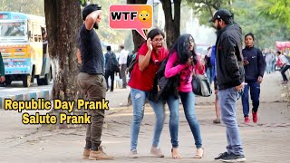 Salute Prank on Cute Girls - Republic Day Prank    Prank In India 2020  Funny Reactions    By TCI