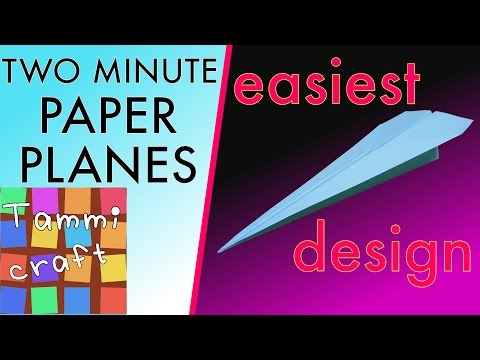 Easiest Paper Plane For Kids - The Easiest Paper Airplane to Make