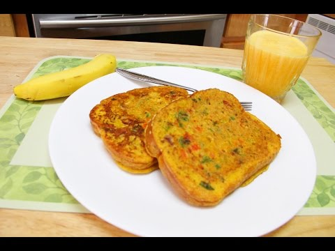 No Eggs Besan Bread Omelette Video Recipe by Bhavna | Instant Besan Toast | Quick Easy Breakfast