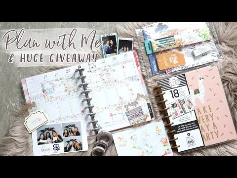 NEW HAPPY PLANNER Plan With Me + HUGE GIVEAWAY!
