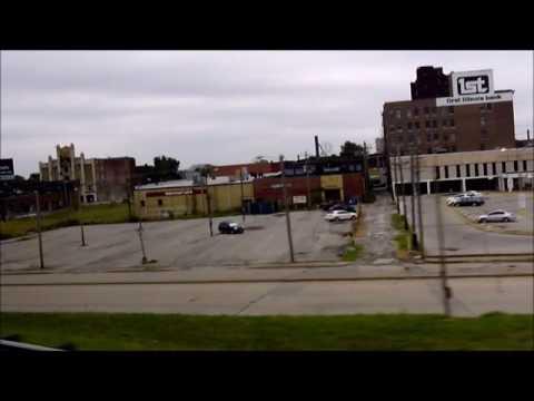 Megabus Trip, St Louis, Missouri, to Chicago, Illinois,
