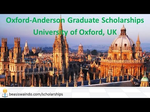 UK - University of Oxford Anderson Graduate Scholarship #20150123