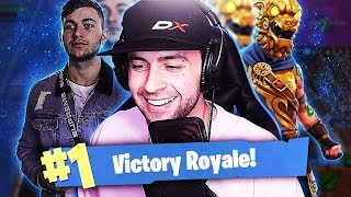 CARRYING MY BROTHER TO HIS FIRST VICTORY!!! (Fortnite Battle Royale)
