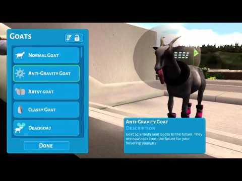 How to unlock stone goat in goat simulator