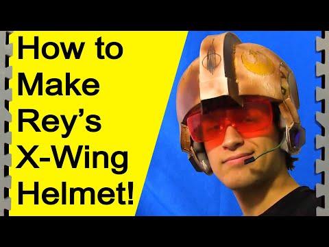 How to Make Rey's X Wing Helmet (Star Wars DIY)
