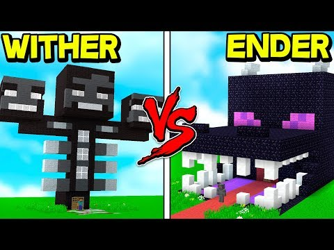 WITHER HOUSE vs ENDER DRAGON HOUSE! - MINECRAFT