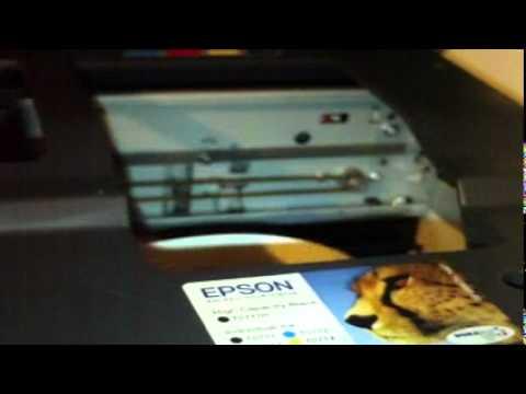 Epson Stylus DX8400 card slot no ink cartridges