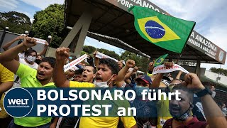 COVID-19 IN BRASILIEN: Präsident lässt sich feiern - Gesundheitssystem kurz vor Kollaps