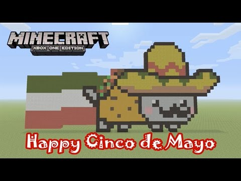 Minecraft: Pixel Art Tutorial and Showcase: Taco Nyan Cat (Happy Cinco de Mayo)