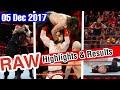Monday Night Raw Highlights Match Result HD 05122017 WWE