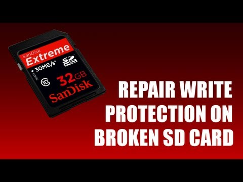 How to Repair Write Protection on SD Card