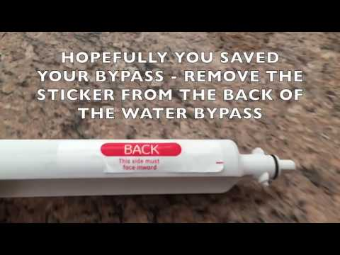 GE Electronic Water Filter Hack Bypass Replacement