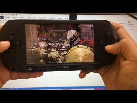How to insert a wallpaper in a psp e1004