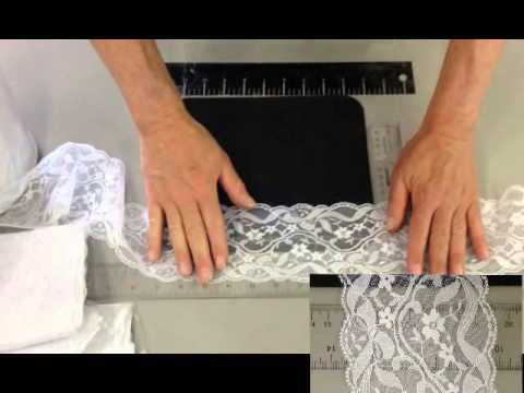 lace trim white raschel 3.75 inches  L3 75 267 70 58