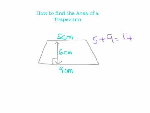 How to find the Area of a Trapezium.