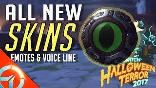 Overwatch Halloween Terror : ALL New Skins Emotes & Voice Line | Symmetra Dragon Skin IS A MUST!!!