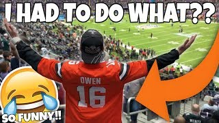 IF I LOSE I HAVE TO WEAR A CLEVELAND BROWNS JERSEY TO THE SUPERBALL!!