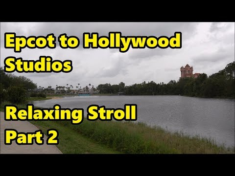 Epcot to Hollywood Studios - Relaxing Stroll in 4K (Part 2)