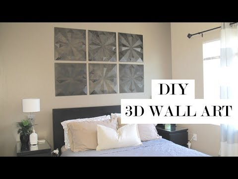 3D Wall Art Home Decor DIY   Easy and Damage-Free