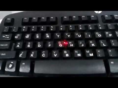 20 W fiber laser marking machine print letter on keyboard