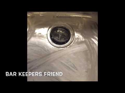 How to clean RUST from your kitchen sink