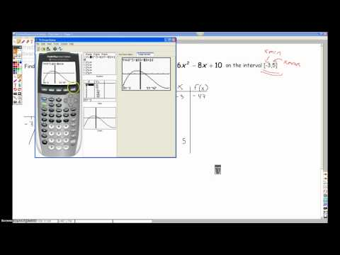 Finding Absolute Extrema Using a Calculator