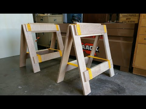 Plywood Sawhorse/Assembly Table/Workbench/Crosscut Table Project -  Part 1