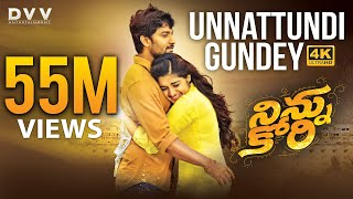 Ninnu Kori Telugu Movie Full Songs 4K | Unnattundi Gundey Video Song | Nani | Nivetha Thomas | Aadhi