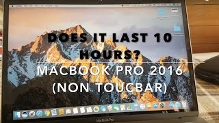 """10 hours or nah? Non-Touch bar Macbook Pro 13"""" battery life"""