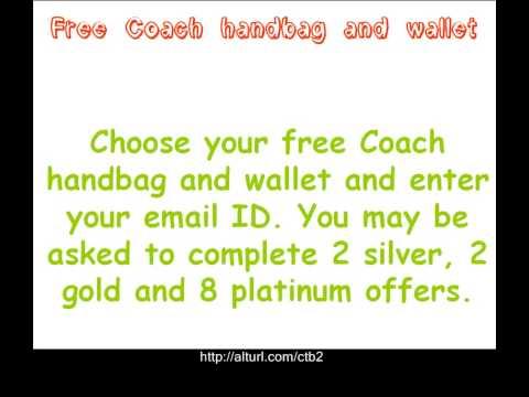 Free Coach handbag and wallet