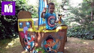Download Джейк и Пираты корабль палатка Дисней и сундук с игрушками и конфетный Динозавр Video