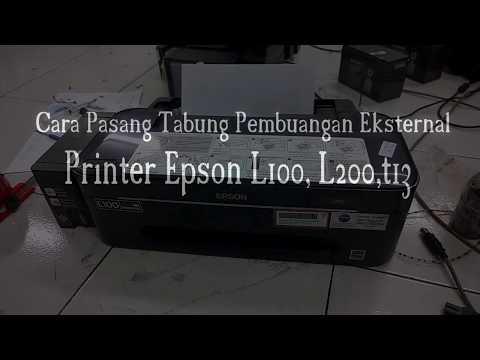Pasang pembuangan eksternal epson L100 L200 T13 ME32